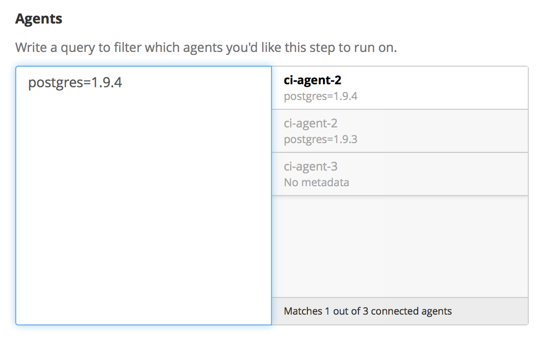 Agent Selector showing a single match