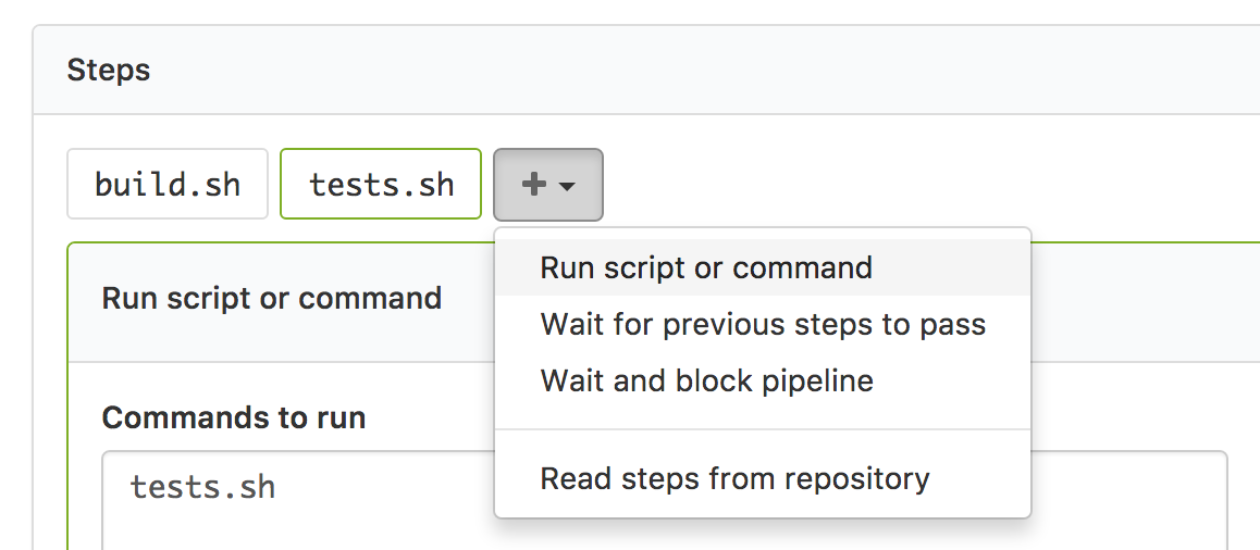 Command Steps | Buildkite Documentation