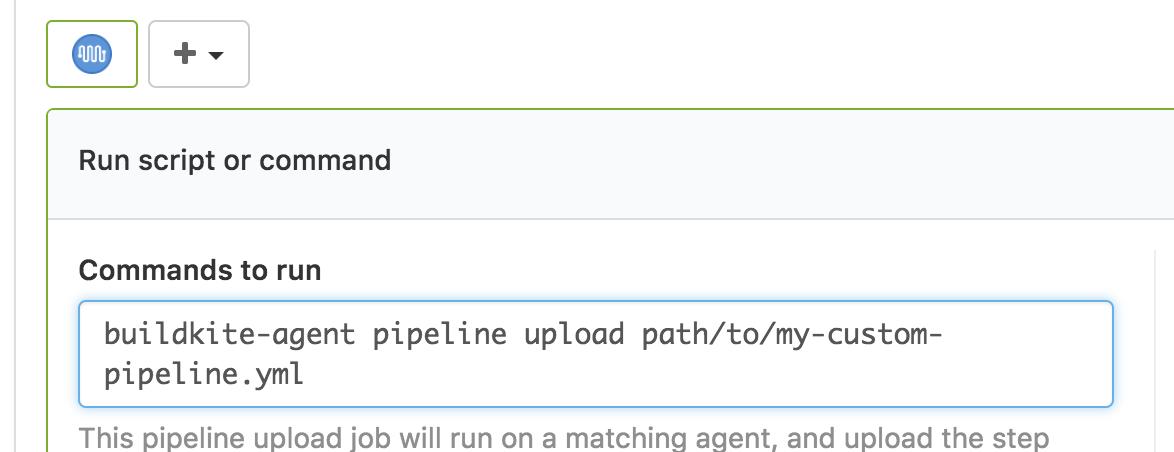 Screenshot of a custom pipeline file upload
