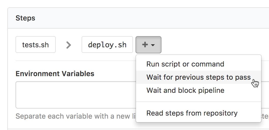 Screenshot of a basic wait step